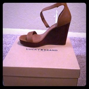 New Lucky Brand Wedge Sandals